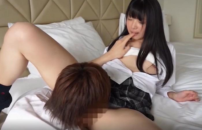清楚系の美少女JKがクンニと指マンに体を震わせ悶絶しバックから突かれるラブラブセックス